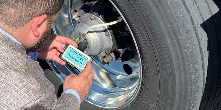 Using telematics to get tire pressure data back to the fleet manager allows fleets to make decisions as to whether the alerts require immediate action or scheduling a work order when the driver reaches the destination terminal. - Photo: PSI