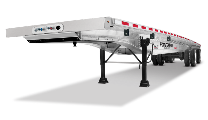 Fleets are pushing for longer life cycles on flatbed products, says Fontaine Trailer's Ken Webb. The longevity of all aluminum trailers continues to push more customers toward higher-prices, but longer-lasting products, such as the Fontaine Revolution with its Routed Aluminum Side Rail, which is resistant to damage and provides a lower cost of ownership over time, according to the company. - Photo: Fontaine