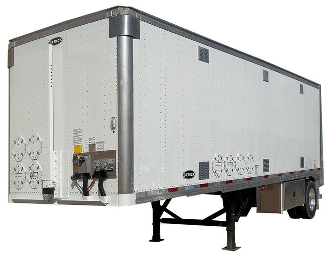 Both small and larger private fleets have begun migrating to disc brakes, says Strick Trailers' Jon Karel. New technology is being introduced that allows brake chambers to give operators performance feedback and the ability to analyze specifics like brake drag and imbalance, which will extend the service life of their trailers. - Photo: Strick