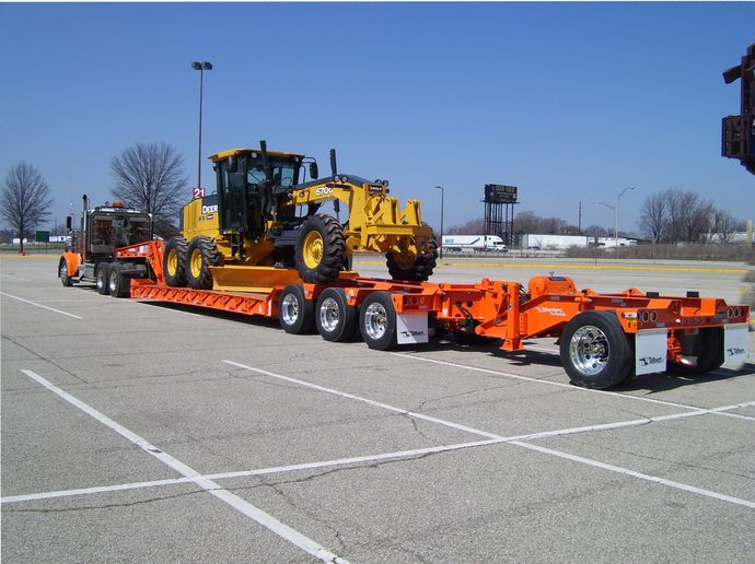 Talbert Trailers has seen a shift toward tire inflation monitoring/pressure systems in the traveling-axle-trailer market, says Troy Geisler. Traveling-axle trailer operators are carrying diverse loads and spending a lot of time on the open road, so being able to keep tires properly inflated is important. - Photo: Talbert