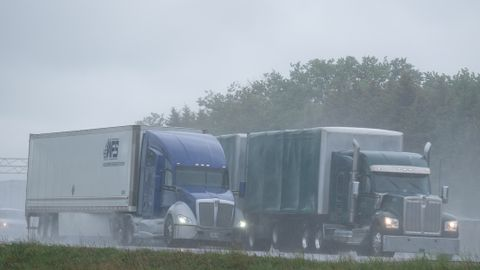Splash and spray can reduce driver visibility from 1,500 feet on dry road to 300-600 feet in...