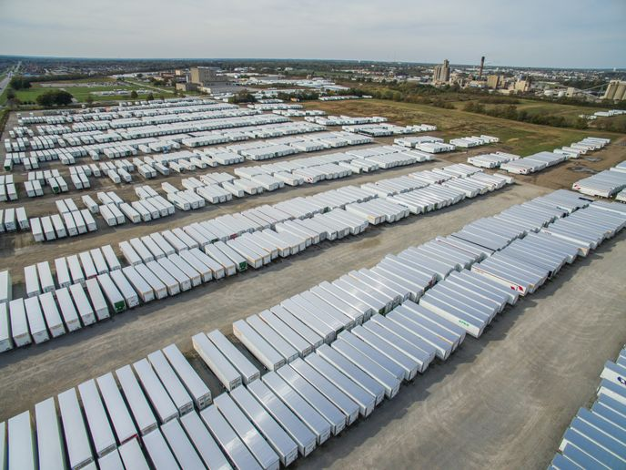With the trailer market booming, says ACT Research, the industry is also grappling with extendedbacklogs. On average, the next available production slots for dry vans and reefers are in the second quarter of 2022. - File Photo: Wabash