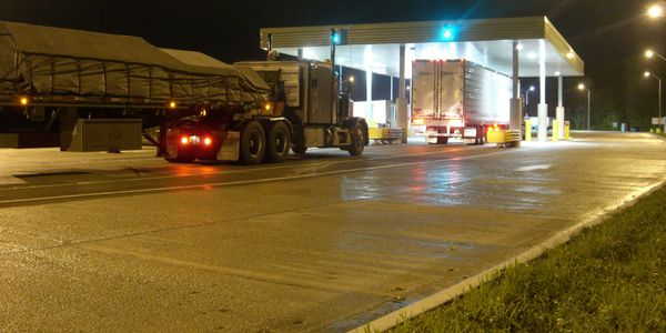 It will be impractical to have driverless trucks pull into inspections stations, so CVSA and...