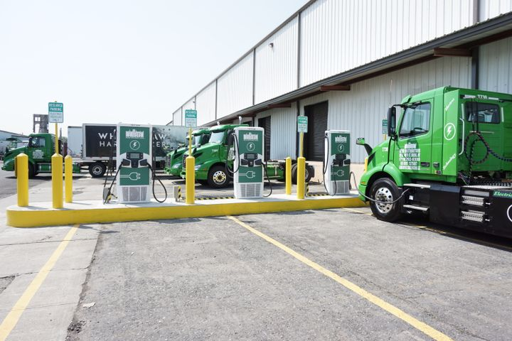 To support the charging of its battery-electric fleet, Manhattan Beer Distributors has installed three Level 3 DC fast chargers at its Bronx facility. - Photo: Vesna Brajkovic