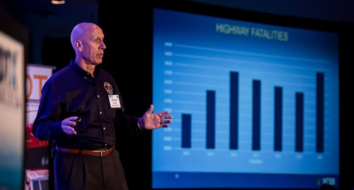 NTSB's Michael Graham, along with talking about collision avoidance technology, also shared preliminary numbers on overall 2020 highway fatalities, which were uup significantly despite fewer vehicles on the road during the pandemic. - Photo: Tavits Photography for HDTX