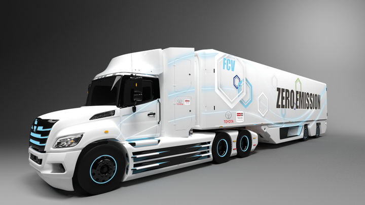Hino announced last fall that it would work with Toyota to develop a heavy-duty fuel-cell truck for the North American market. It will use the Class 8 Hino XL Series chassis and Toyota's fuel cell technology. - Photo: Hino