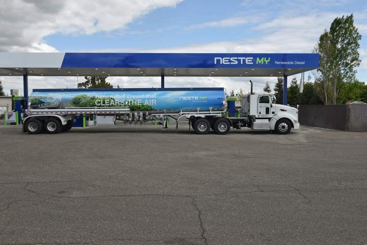 Renewable diesel can be used without engine modification and can be distributed through existing infrastructure. - Photo: Neste