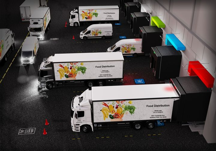 Wireless charging could open up much flexibility in yard planning and terminal layout, freeing trucks from having to charge at a separate location from where they load or unload. - Photo:WiTricity