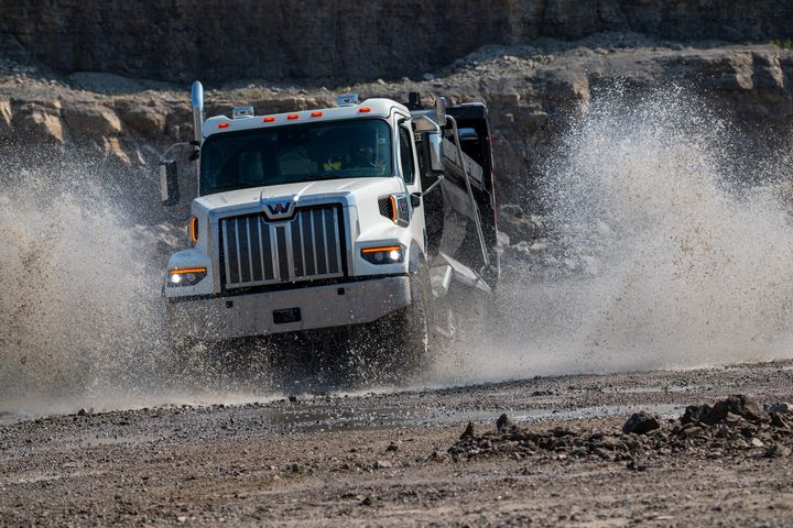 The Western Star 47X is 10 inches shorter and 200 pounds lighter—spec-for-spec — than the 49X. It's suited for applications that are impacted by bridge laws, but still includes many of the new features first introduced with the 49X one year earlier. - Photo: Western Star