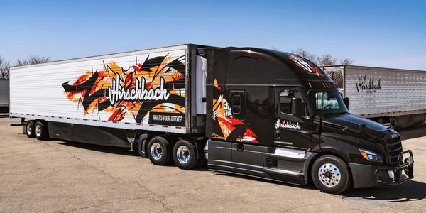 Hirschbach designed its new fleet graphics to reflect the fact that it's a different kind of...