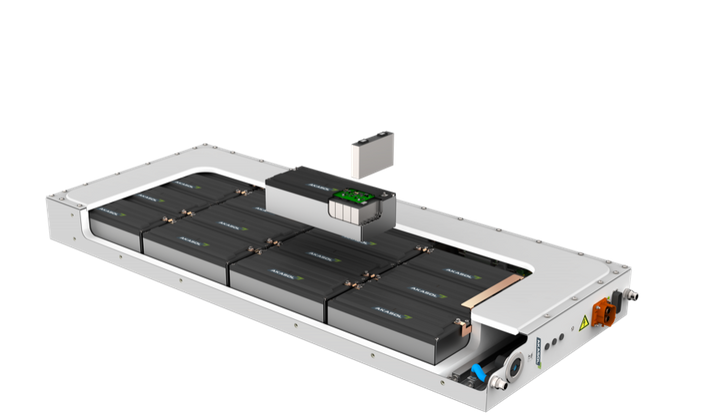 The AKASystem OEM PRC lithium-ion battery system for commercial vehicles will be produced in the U.S.A at a plant in Novi, Michigan.  