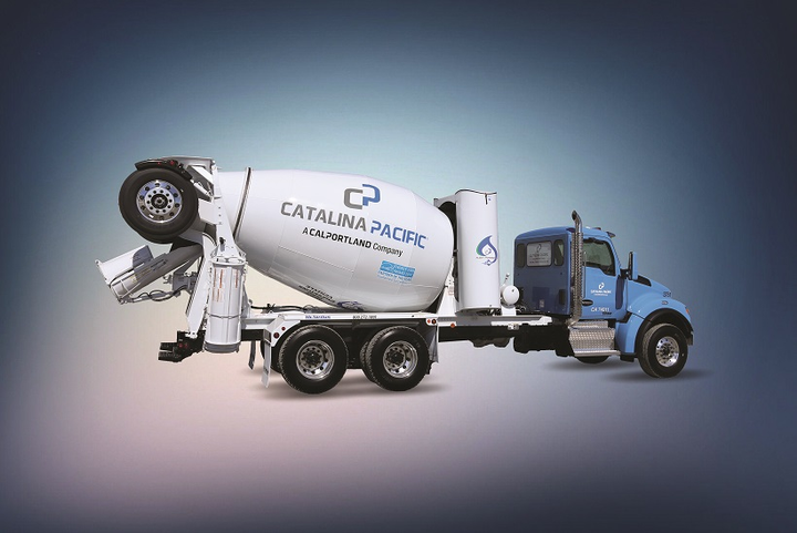 Catalina Pacific is using near-zero-emissions natural gas engines in concrete mixer trucks.