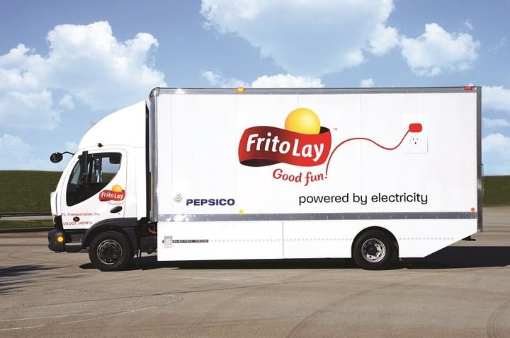 Electric, natural gas, propane, and fuel-efficient diesel trucks are all part of Frito-Lay's fleet.