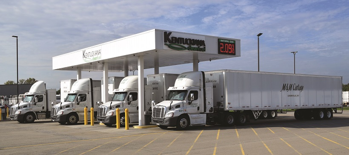 M&M Cartage has been honored for its green efforts by the Kentucky Clean Fuels Coalition.
