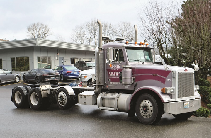 Becker Trucking operates about 50 trucks and 150 trailers, many of which are specialized and high-GVW equipment on dedicated runs.