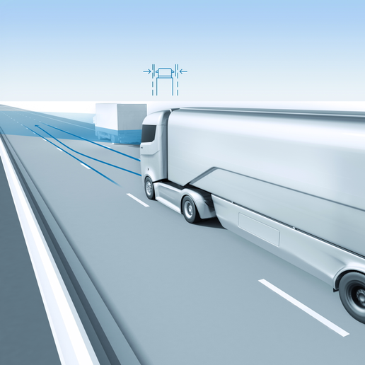 The first fully autonomous trucks are likely to operate from hubs based outside major population centers with will serve as transhipment points between manually driven regional and local trucks and over-the-road autonomous trucks. Image: Bosch  -