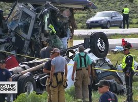 Steer tire failure is suspected as the cause of the deadly collision between a truck and a motor coach in New Mexico just before Labor Day.