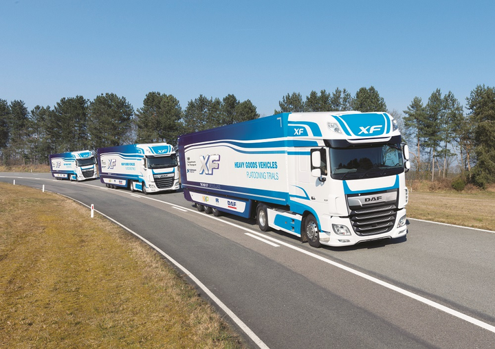 In the UK, DAF Trucks has been working on truck platooning technology since early 2015. DAF test drivers have driven tens of thousands of miles on public roads and test tracks.  - Photo courtesyDAF Trucks