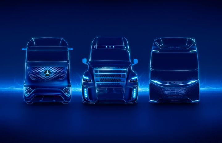 Daimler Trucks executives spoke about its plans for the future of trucks as well as the effects of tarriffs and trade wars at its Captial Market & Technology Day media Q&A.  - Image courtesy Daimler Trucks