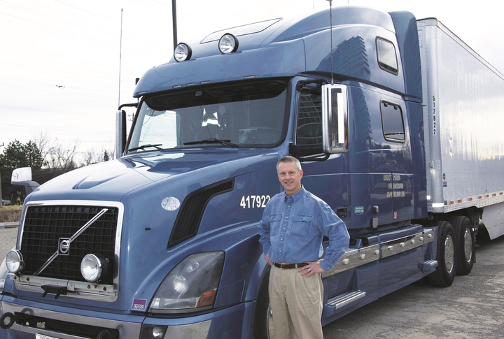 Alec Costerus' sailing experiences as a child led him to develop his own, patent-pending aerodynamic skirt system for his tractor-trailer.