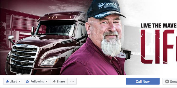 Three-fourths of Maverick's drivers follow the company on Facebook – and many potential drivers...