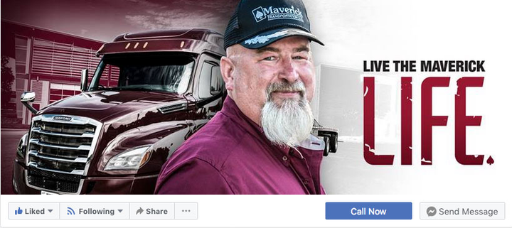 Three-fourths of Maverick's drivers follow the company on Facebook – and many potential drivers as well.  - Screenshot from Maverick's Facebook page