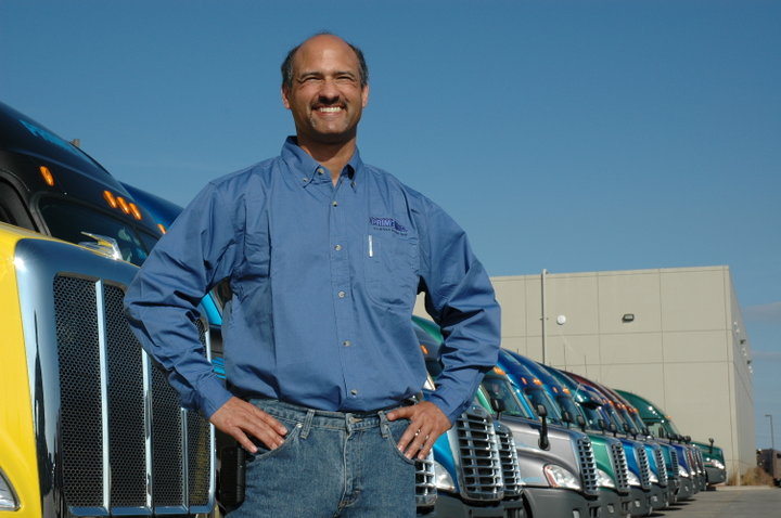 Employee truck driver or independent contractor owner-operator? It could depend on which court or government agency you're talking to.  - Photo: Prime Inc.