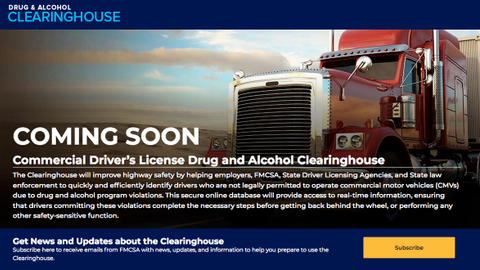 A drug testing clearinghouse that prevents drivers who test positive for drugs from simply...