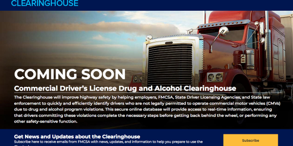 Jan. 6, 2020 is when use of the Drug & Alcohol Clearinghouse becomes mandatory to report and...