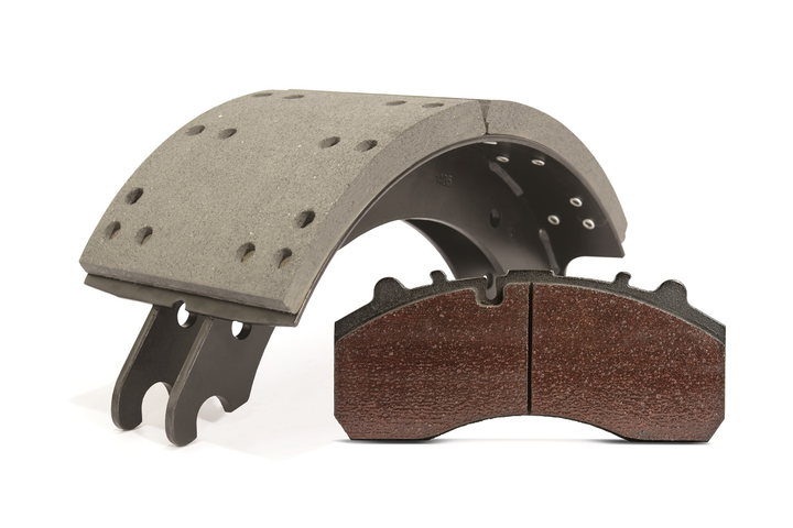 Edge markings on brake lining material are not indicators of lining quality or performance. The markings indicate who made it, what it's made of, and its coefficient of friction.