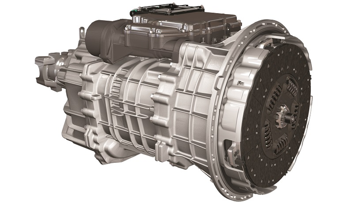 The Endurant is a completely new, clean-sheet design conceived as an automated transmission. It's a 12-speed, twin-countershaft design weighing just 657 pounds. Direct drive is in 11th gear, with 12th gear offering a 0.77:1 overdrive.