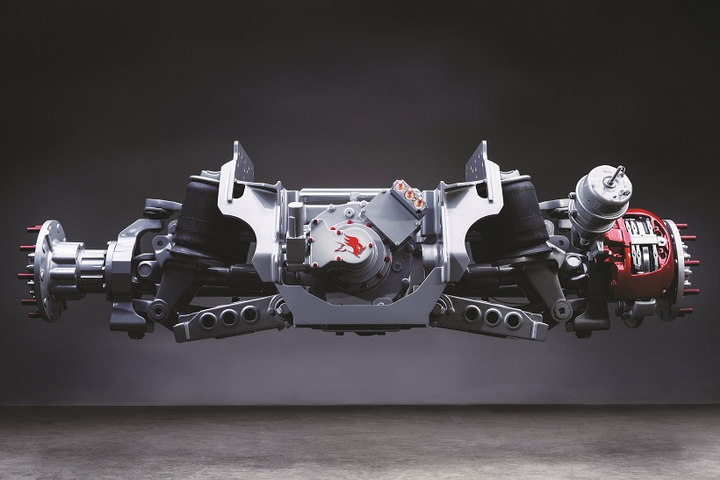 Eliminating some portion of the traditional axle housing could open opportunities for new suspensions for heavy trucks, such as this example of an independent suspension.