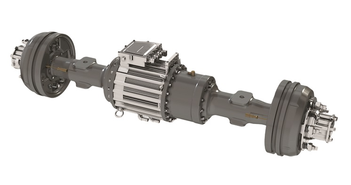 Inline motors can be integrated into the axle housing for greater packaging flexibility and weight savings.