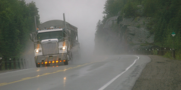 There are no prescribed wet traction standards for commercial vehicle tires, but tire makers are...