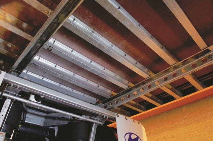 You could spec a thicker floor or tighten up the spacing on the crossmembers, going with 6-, 8-, or 10-inch centers rather than the typical 12. That will improve the floor rating, but it will add weight and cost.  -