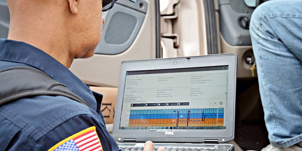 The electronic transfer of driver logs at roadside inspections is one of the differences between...