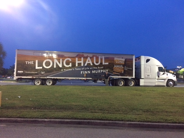 Murphy and his publishing company wrapped his trailer with his book's dust jacket for a three month book tour that included stops and truck stops around the country. Photo: Finn Murphy