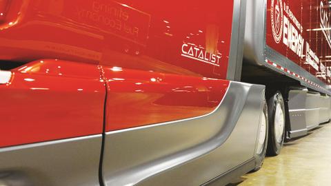 Advanced aerodynamics, as seen on SuperTrucks such as Navistar's Catalist, will be top picks to...