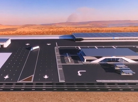 "Concept drawing of the ""truck stop"" facility that will surround many of Nikola's generation and filling stations"