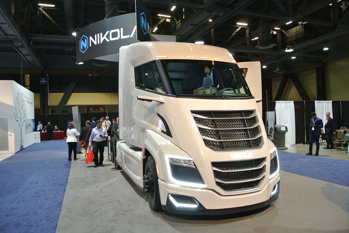 Nikola Motors CEO Trevor Milton was part of a panel discussion on Alternative Fuels, speaking about the promises and difficulties of bringing clean vehicles like his Nikola Two hydrogen electric truck to the transportation industry.  - Photos: Stephane Babcock