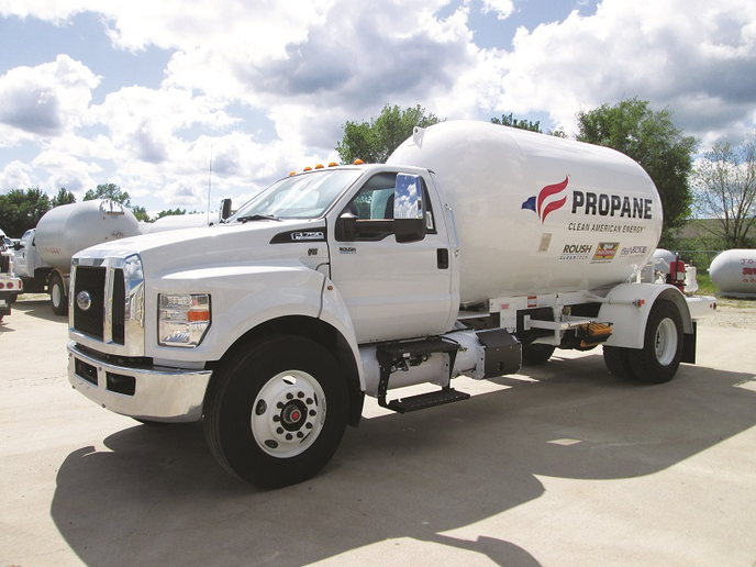 """Propane, technically a type of liquefied petroleum gas, is increasingly being marketed as """"autogas"""" when it's used as a motor fuel. It's regarded as a competitive fuel for light-, medium-, and even some heavy-duty operations.  - Photos courtesyRoush CleanTech"""