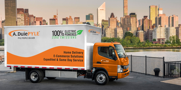 A. Duie Pyle is leasing two battery-electric Fuso eCanters for use in its last-mile delivery...