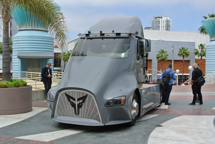 Electric vehicles like this Xos truck promise to pioneer a path for electric vehicle use in the commercial transportation industry.