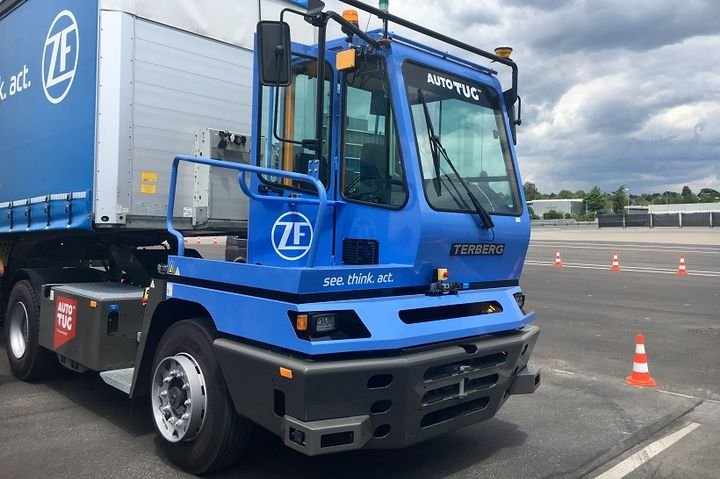 "ZF said that in the future the Innovation Yard tractor could autonomously maneuver swap bodies or trailers to their respective destinations"" to enable logistics operators to increase efficiency, speed, and environmental friendliness