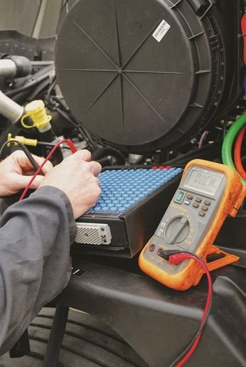 Many of the diagnostics and repairs on the electronics and the electrical system can be performed with a multimeter — but technicians need to understand what the numbers are telling them. - Photo: Jim Park