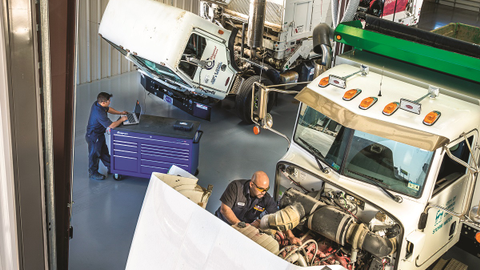 For Rush Truck Centers, technicians can choose to train in alternative-fuel trucks as a...