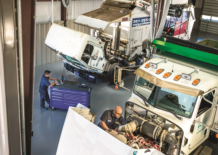 For Rush Truck Centers, technicians can choose to train in alternative-fuel trucks as a specialty skill needed at some of its locations.