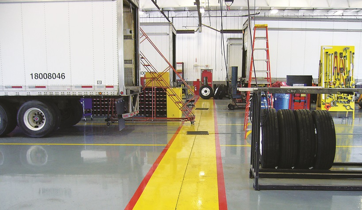 Highly polished, painted and sealed floors are easy to clean.