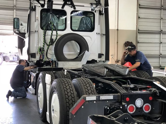 For decades now, the shortage of skilled truck mechanics and technicians is a plague that just won't go away.  - Photo: Steven Martinez