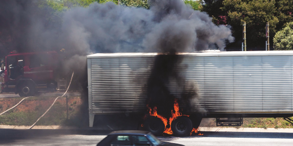Wheel-end fires often make the news, with dramatic clouds of thick black smoke.